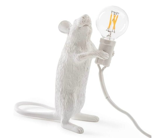 Lampada da tavolo Mouse lamp Colore Bianco Seletti vendita iofferta shoppingonline metoo-design roma