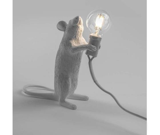 Mouselamp standing bianco