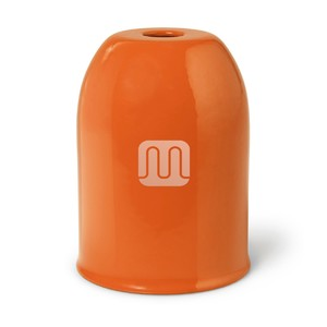 Bicchierino Copriportalampada In Metallo Arancione