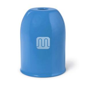 Bicchierino Copriportalampada In Metallo Azzurro
