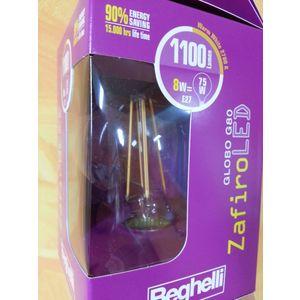 LAMPADINA GLOBO BEGHELLI G80 ZAFIRO LED  56442 8w 1100 lumen