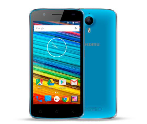 Smartphone KOMU Color 4G Ciano