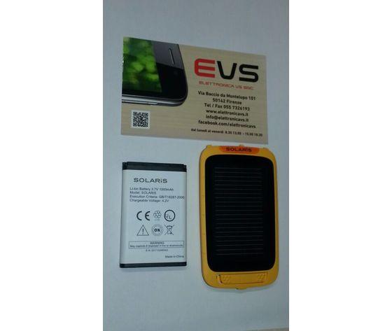 Batteria ORIGINALE OUTLIMITS per Solaris con Copribatteria a Celle Solari in bulk 3,7V