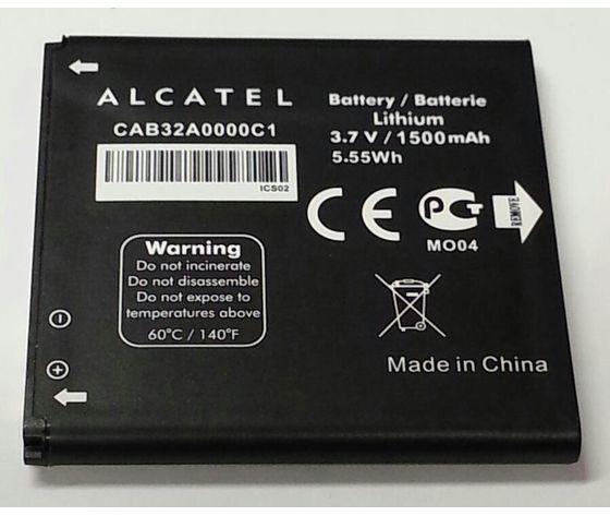 BATTERIA ALCATEL ORIGINALE in bulk CAB32A0000C1 3,7V 1500mAh per OT536