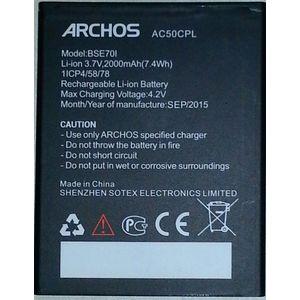 BATTERIA ORIGINALE ARCHOS AC50CPL per 50C PLATINUM in BULK 2000mAh 3,7V