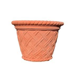 Fioriera\Vaso Crociato effetto Terracotta