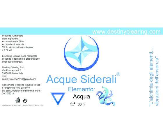 Acque Siderali - ELEMENTI - ACQUA