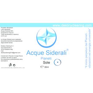 Acque Siderali - PIANETI - SOLE
