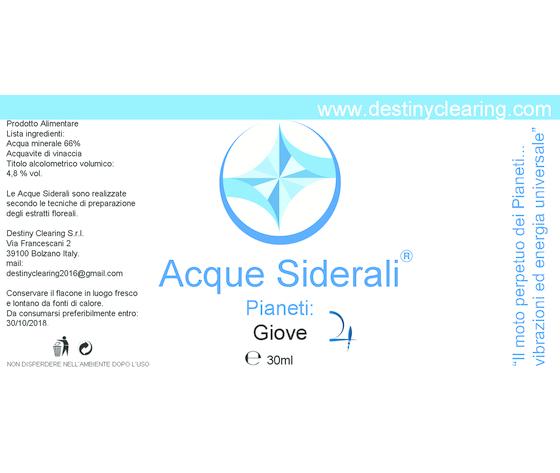 Acque Siderali - PIANETI - GIOVE