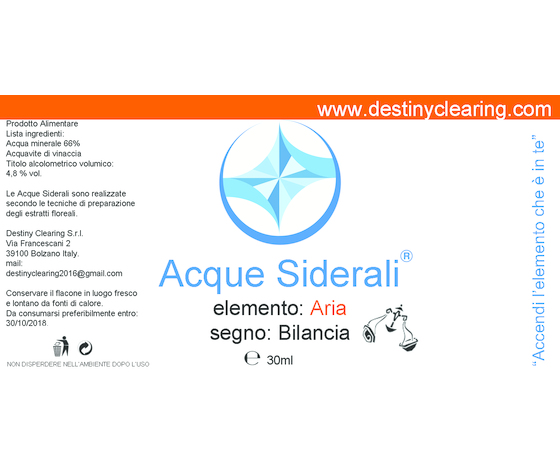 Acque Siderali - SEGNO - BILANCIA