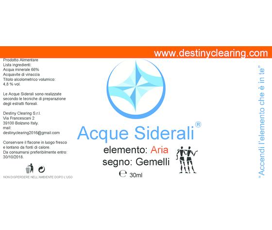 Acque Siderali - SEGNO - GEMELLI
