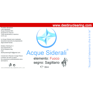 Acque Siderali - SEGNO - SAGITTARIO