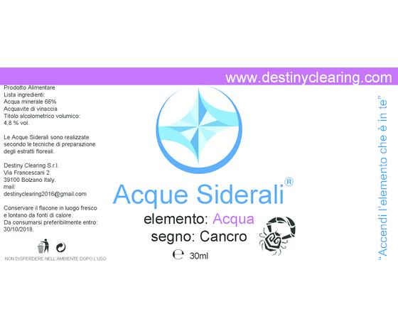 Acque Siderali - SEGNO - CANCRO