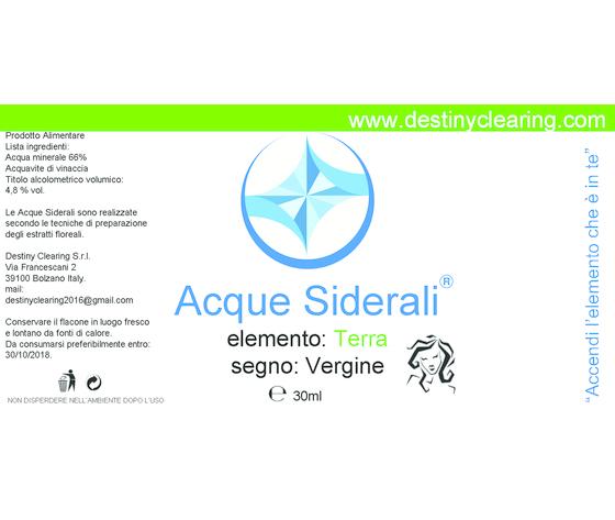 Acque Siderali - SEGNO - VERGINE
