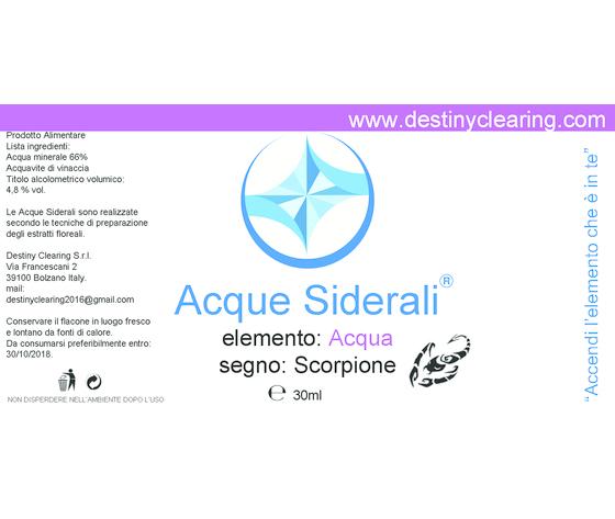 Acque Siderali - SEGNO - SCORPIONE