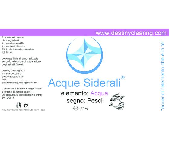 Acque Siderali - SEGNO - PESCI