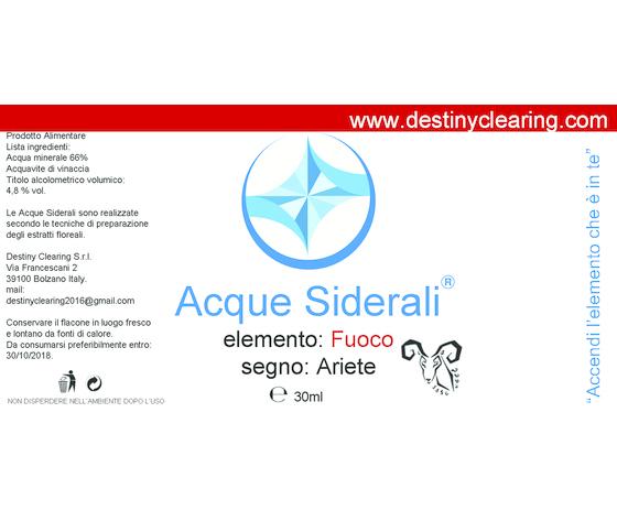 Acque Siderali - SEGNO - ARIETE
