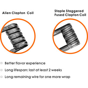 Staple Staggered Fused Clapton coil 0.2ohm