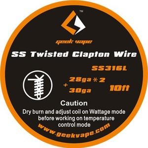 Geekvape twisted SS Clapton 28ga*2 + 30ga