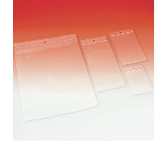 Busta Minigrip Originale, 1000 pezzi, in polietilene con riga rossa, con foro 0