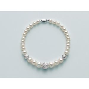 Bracciale Yukiko Perla e Boule diamantata