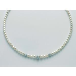 Collana Yukiko Perla e Boule diamantata