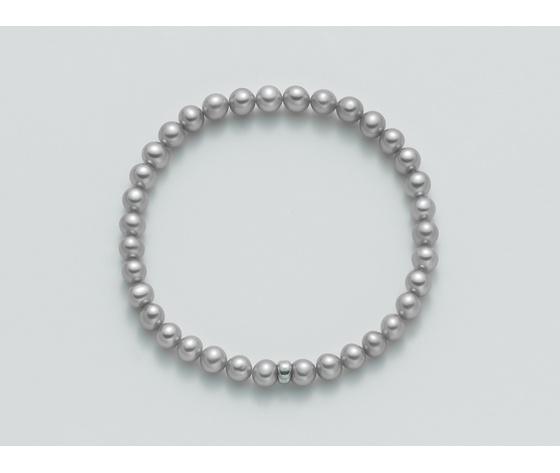 Bracciale Yukiko Perla Colore Grigio elastico