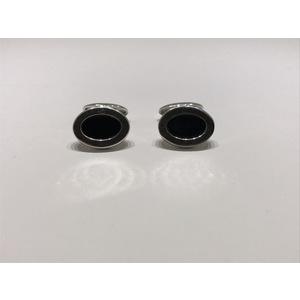 Gemelli in argento 925 con onoce nero Santomà
