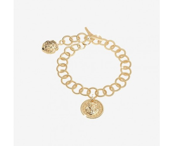 Bracciale Rebecca in argento con teste di leone The Lion Queen