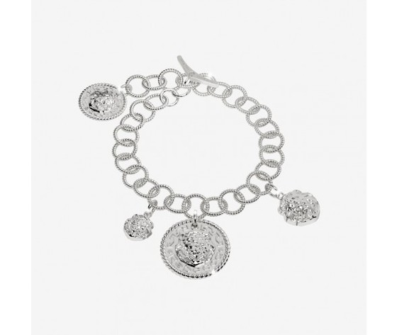 Bracciale Rebecca in argento con testa di leone The Lion Queen