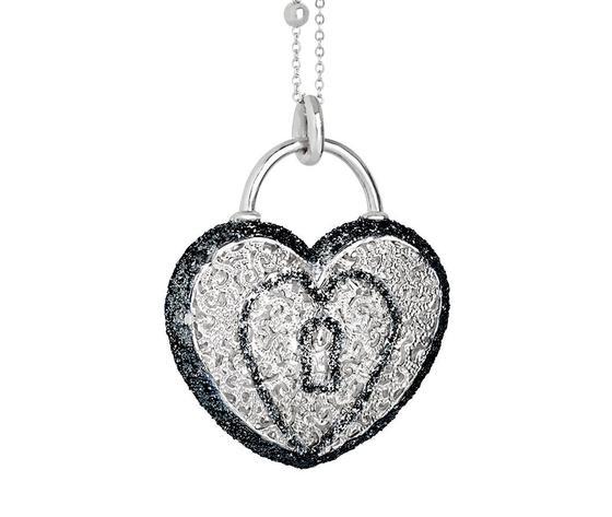 Collana Boccadamo con cuore pendente e glitter XGR241
