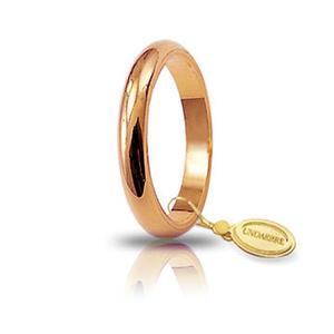 Fede Matrimoniale Unoaerre 4,00 grammi Francesina Oro Rosa