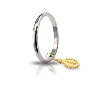 Fede Matrimoniale Unoaerre 1,5 grammi Francesina Oro Bianco