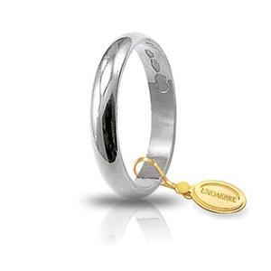 Fede Matrimoniale Unoaerre 3,00 grammi Classica Oro Bianco