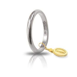 Fede Matrimoniale Unoaerre 3,00 grammi Francesina Oro Bianco