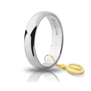 Fede Matrimoniale Unoaerre 4,00 grammi Fascia Larga Oro Bianco