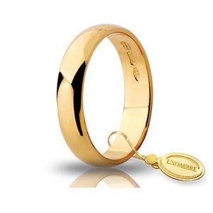 Fede Matrimoniale Unoaerre 4,00 grammi Fascia Larga Oro Giallo