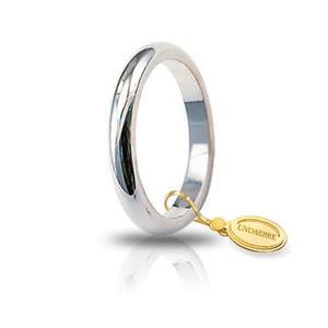 Fede Matrimoniale Unoaerre 4,00 grammi Francesina Oro Bianco