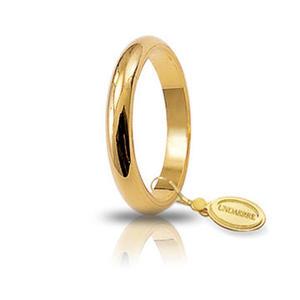 Fede Matrimoniale Unoaerre 4,00 grammi Francesina Oro Giallo