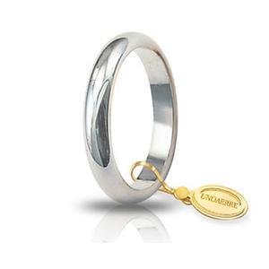 Fede Matrimoniale Unoaerre 5,00 grammi Classica Oro Bianco