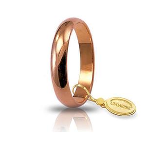 Fede Matrimoniale Unoaerre 5,00 grammi Classica Oro Rosa
