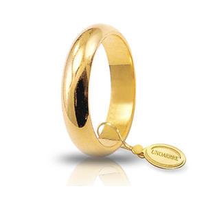 Fede Matrimoniale Unoaerre 7,00 grammi Classica Oro Giallo