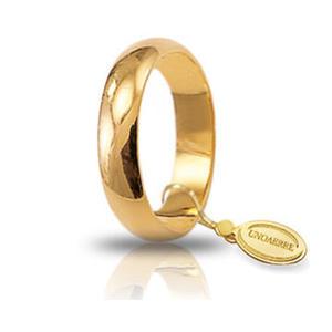 Fede Matrimoniale Unoaerre 5,00 grammi Mantovana Oro Giallo