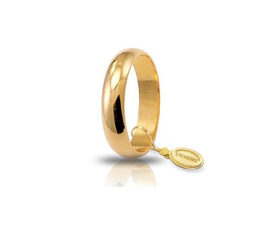 Fede Matrimoniale Unoaerre 5,00 grammi Fascia Larga Oro Giallo