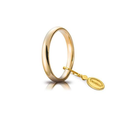 Fede Matrimoniale Unoaerre Comoda 3mm. Oro Giallo