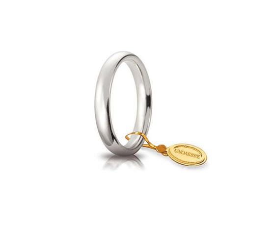 Fede Matrimoniale Unoaerre Comoda 3,5 mm. Oro Bianco
