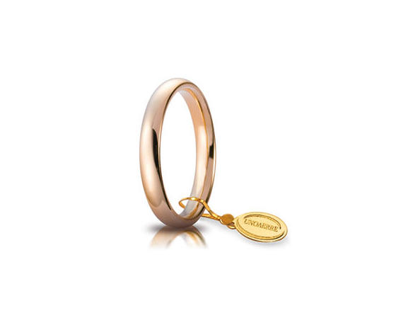 Fede Matrimoniale Unoaerre Comoda 3,5 mm. Oro Rosa