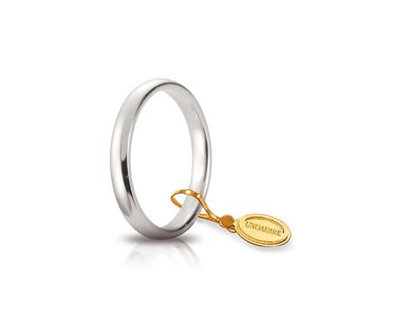 Fede Matrimoniale Unoaerre Comoda 3mm. Oro Bianco