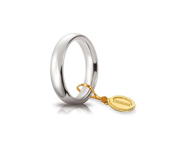 Fede Matrimoniale Unoaerre Comoda 4 mm. Oro Bianco