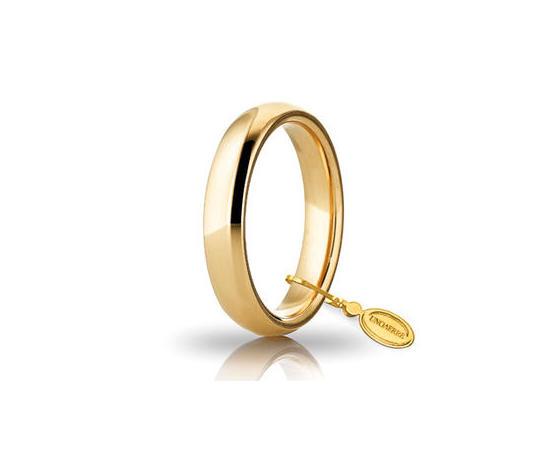 Fede Matrimoniale Unoaerre Comoda 4 mm. Oro Giallo